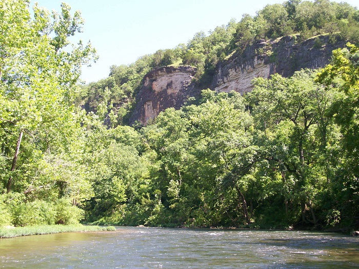 bluff on the Current River