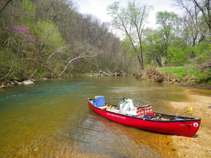 April on Big Piney River, MO